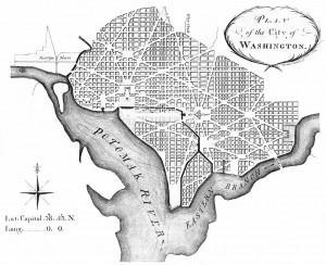 L'Enfant's plan of the City of Washington, March 1792