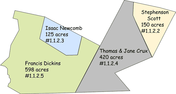 Second division of parcel 1.1.2, 1838 to 1843